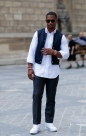 Street Style: Victor Cruz in Paris