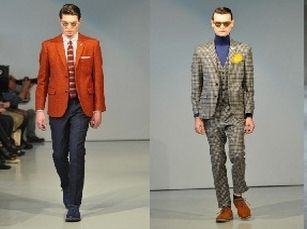 Skinny pant suits David Hart and Marc Jacobs
