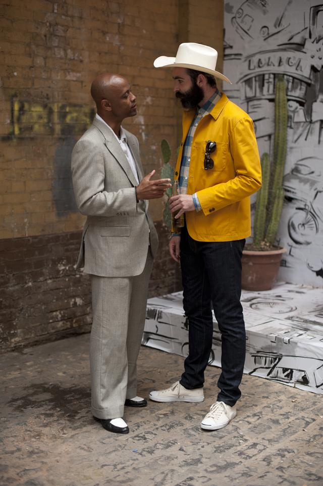Gold Jacket Hentsch Man talking to Alton