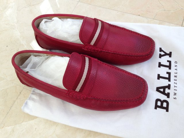 Bally Red Driving Slippers
