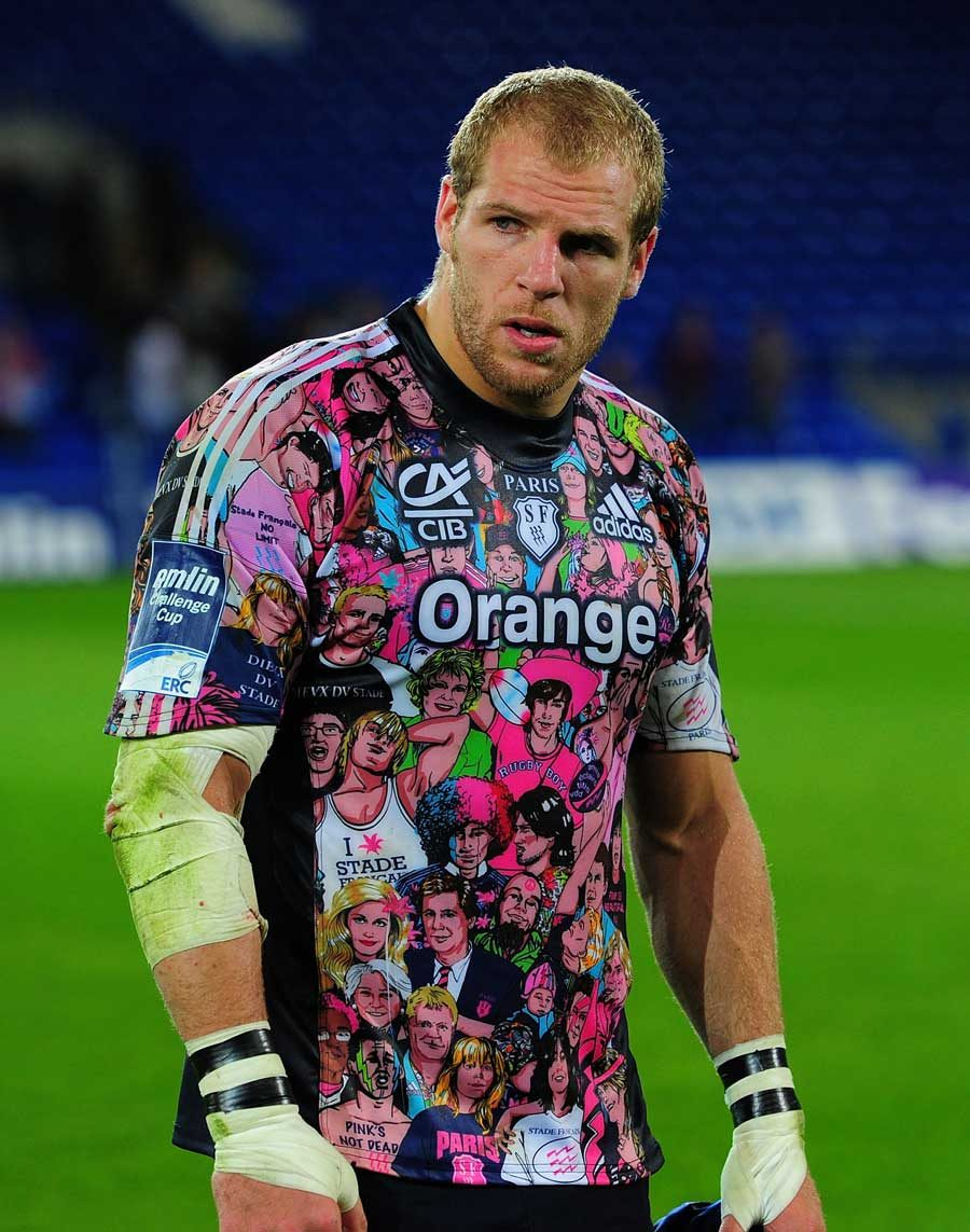 Image result for stade francais rugby shirt