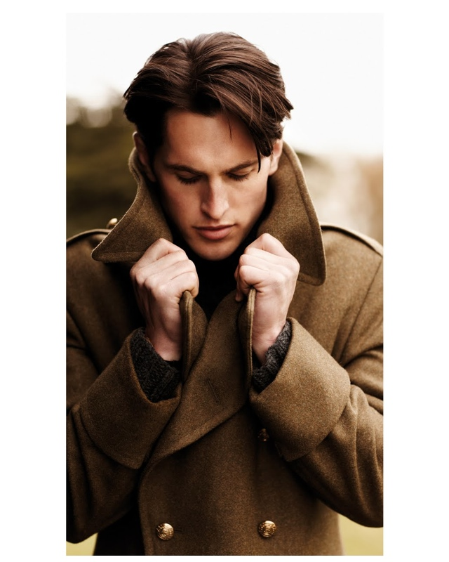Try a brown coat, like this one.
