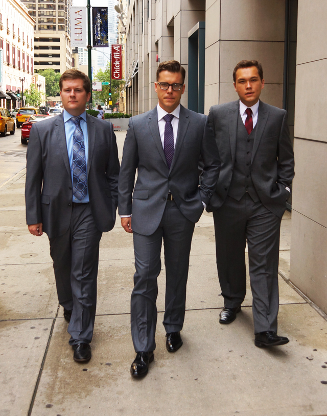 Meet Conor, Fredrick and Michael, three Loyola Law students willing to suit up.