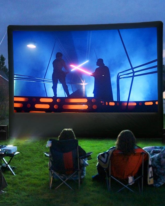 outdoor movie screening