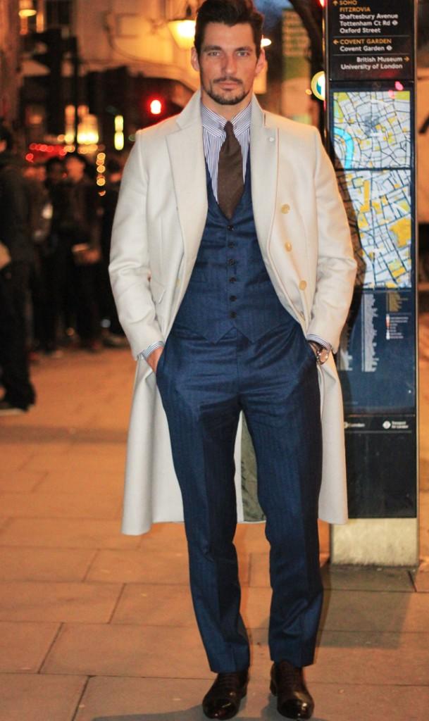 David Gandy looking dapper as per usual in London.
