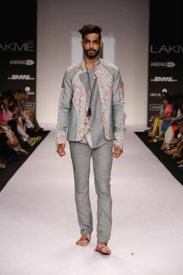 Sengar blends a masculine and floral feminine pattern together for a cool look.