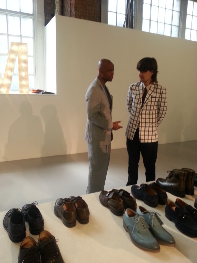 Alton with Diego Vanassibara´s line of shoes