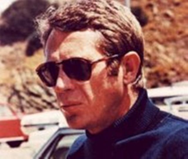 Steve McQueen wearing Folding P 714's