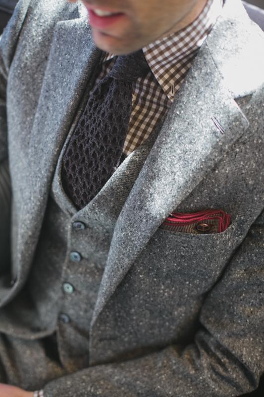 Garrison Bespoke tweed suit