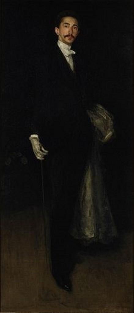portrait of Marie Joseph Robert Anatole, Comte de Montesquiou-Fézensac by Whistler