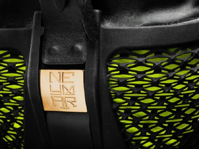 The Neymar gold laser-sintered monogram