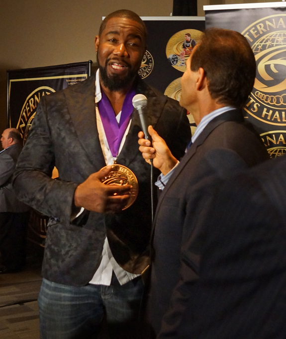 Martial Arts Champion and Movie Star Michael Jai White looked smart in his custom blazer by The Gentleman's Cooperative.