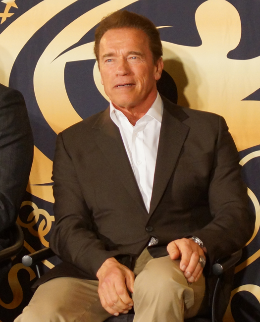 Namesake Arnold Schwarzenegger usually is spotted in a blazer and crisp dress shirt at The Arnold Classic.