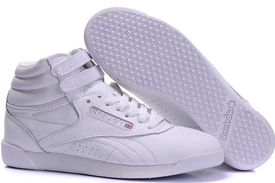 You could go with a classic pair of high top white Reeboks