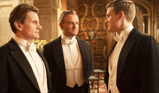 Downton Abbey regal British cast wouldn't be caught dead without their bow ties
