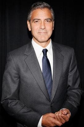 George Clooney isn't starting any new trends, but looks great in a traditional necktie