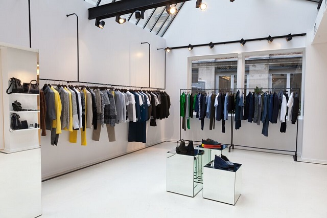 The very bright and stylish showroom of Carven on St Germain